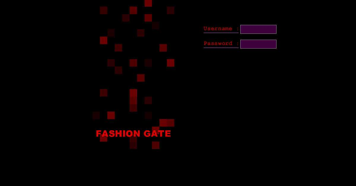 Fashion Gate Website with Animated Login Screen