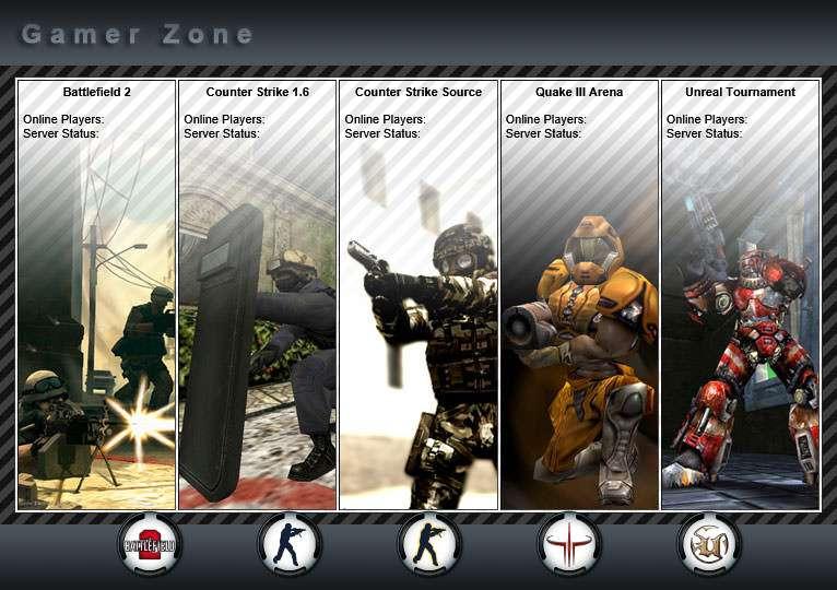Game Server Website Design