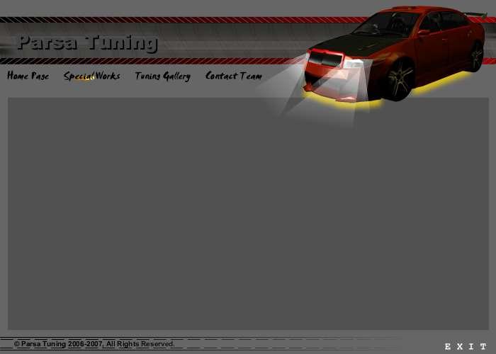 Car Tuning Flash Website Template